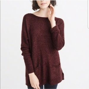 Abercrombie & Fitch Burgundy Sweater